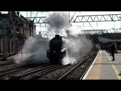 60009 'Union of South Africa' departing Crewe Station 15/09/12