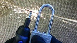 Cordless Dremel Rotary Tool vs. Hardened Steel Padlock