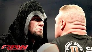 Brock Lesnar is surprised by the return of The Undertaker: Raw, Feb. 24, 2014 width=
