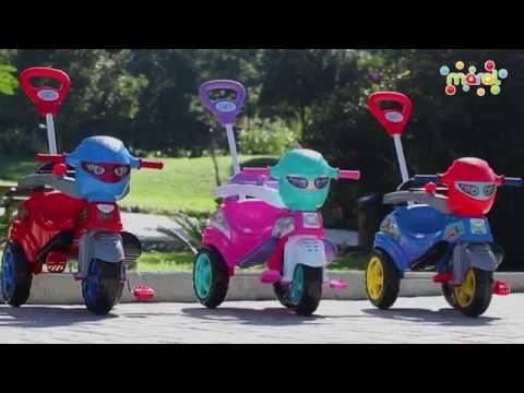 Carrinho De Passeio Ou Pedal Triciclo Baby City Patrol - Maral
