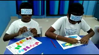 drawing in blindfold - 3rd grade student after Adv Brain Training   Great Brains