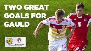 Two great goals from Ryan Gauld // Luxembourg U21 0-3 Scotland U21