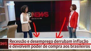 RECESSÃO E DESEMPREGO CONTROLAM A INFLAÇÃO, DIZ TV GLOBO.