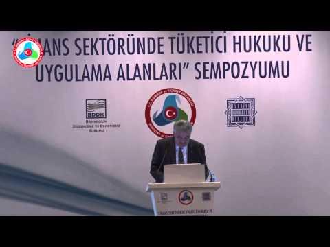 """Bakan Yazıcı """"Finans Sektöründe Tüketici Hukuku ve Uygulama Alanları Sempozyumu""""na Katıldı"""