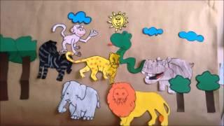 """Adaptação do conto africano """"Porque a girafa não tem voz?"""""""