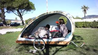 Foldavan lightweight folding bicycle caravan