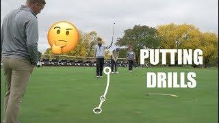 College Golf Practice (Putting Drills) - GM GOLF