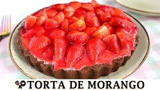 TORTA DE MORANGO SEM FORNO SUPER FÁCIL - RECEITAS QUE AMO