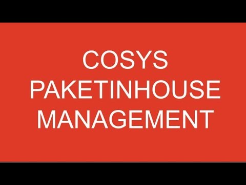 Hauspostverteilung | Wie funktioniert Paket Management Inhouse mit COSYS Software