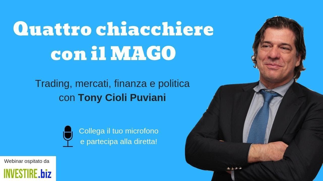 4 chiacchere con il Mago, webinar con Tony Cioli Puviani