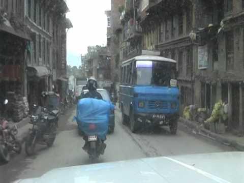 Driving in Bhaktapur