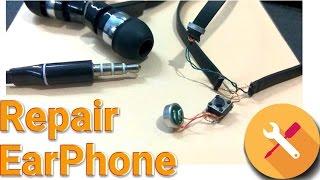 Repair Earphone | How to repair easy without soldering | Fix Headphone | KesPra ✔