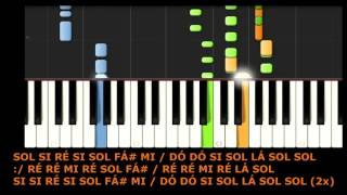 COMO TOCAR PARABÉNS - Piano Cover / Tutorial