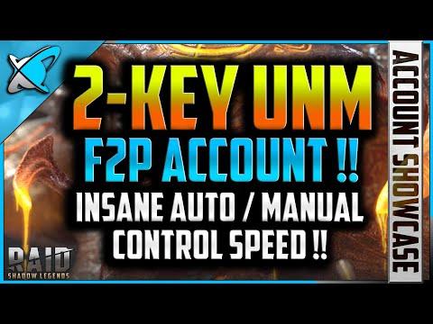 *2-KEY UNM* F2P ACCOUNT | Legion 67 Account Showcase | RAID: Shadow Legends