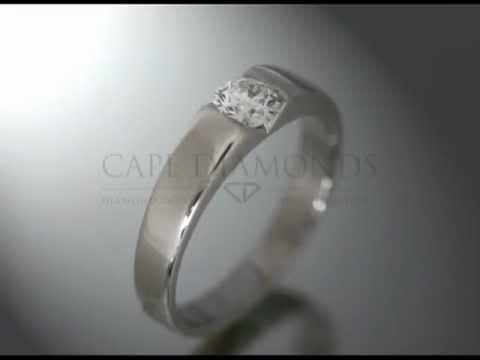 Soul ring,joel graham,ideal cut diamond,bold band,platinum,engagement ring