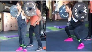 Malaika arora khan new  H0T Workout 2018 width=