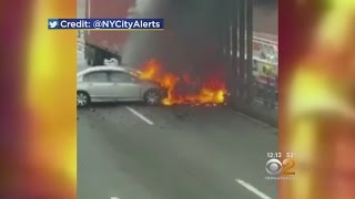 Hero Pulls Driver From Fiery NY Expressway Crash