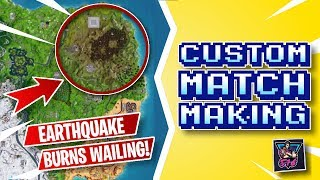 🔴 FORTNITE LIVE | CUSTOM MATCHMAKING LOBBIES (OPEN TO EVERYONE) | EARTHQUAKE LIVE EVENT SOON?!