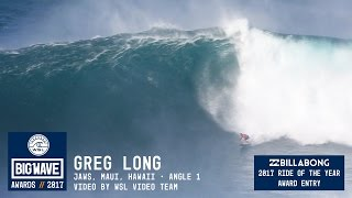 Greg Long at Jaws 1 - 2017 Billabong Ride of the Year Entry - WSL Big Wave Awards