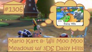 [Music Swap 22, subtitles] Mario Kart 8 200cc! (Wii Moo Moo Meadows w/ 3DS Daisy Hills) (Race #1306)