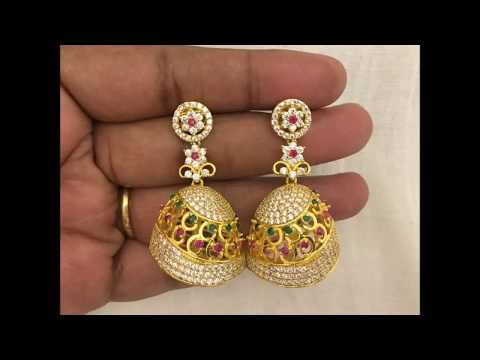 f6934380755 Download thumbnail for latest 1 gm gold  90 earrings designs for low ...