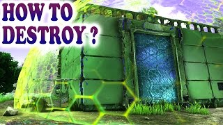 💥 ARK HOW TO DESTROY TEK SHIELD GENERATOR & TEK BASE Big Damage Test Tek Tier Ark Survival Evolved