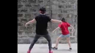 Ranz Kyle Ongsee and Niana Guerrero dancing Twerk It Like Miley Remix