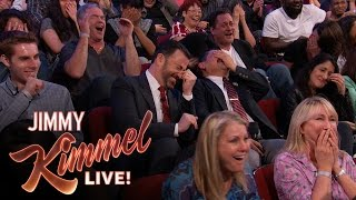 """Sacha Baron Cohen Shows EXTREMELY Graphic Movie Clip to """"Kimmel"""" Audience"""