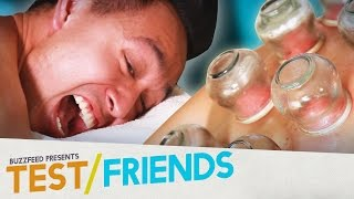 People Try Fire Cupping Therapy • The Test Friends