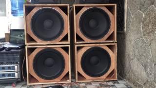 DIY Martin Audio ws18x PA sub test @ 140hz Small Dream Sound System