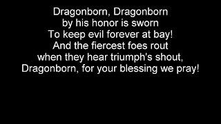 SKYRIM THEME (DRAGONBORN) ENGLISH LYRIC VERSION