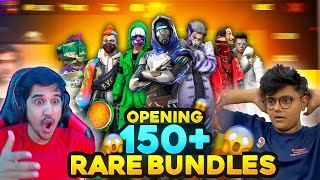 OPENING ALL 150+ RAREST BUNDLE OF SRV IGNITE || HIS REACTION 😱🔥 - DESI GAMERS