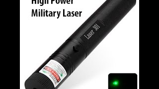 High Power Military Laser 301  Green Light Zoomable Laser Pen Laser Beam /GearBest.com