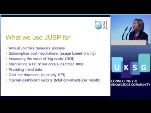 Thumbnail for Use Cases :: Journal Usage Statistics Portal