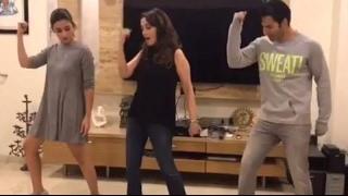 Video: Madhuri Dixit Teaches Varun And Alia Tamma Tamma Dance Steps !!