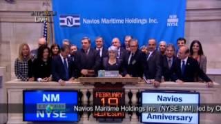 19 feb 2014: Toque de campana  de cierre en la Bolsa de Nueva York