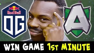 How to WIN GAME on 1st min — 200 IQ Topson play OG vs ALLIANCE