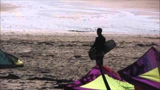 Session kitesurf à Jullouville