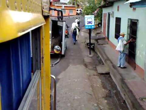 Entering Boaco by bus, Nicaragua