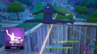 NEW Squat Kick Dance Bullet Dodge (Fortnite Battle Royale)