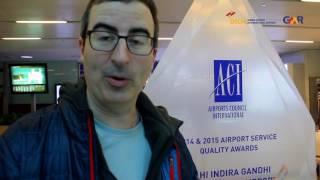John Oliver at #DelhiAirport