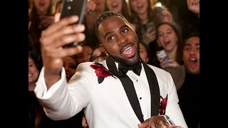 Jason Derulo chops it up with Ty $ and Justin Timberlake at iHeart Radio awards