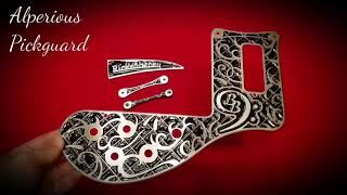 Rickenbacker Bass Pickguard and TRC (Becky Baldwin Tattoo Design) by Alperious Pickguard