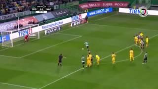 Goal | Golo Bas Dost: Sporting (1)-2 Nacional (Liga 18/19 #13)