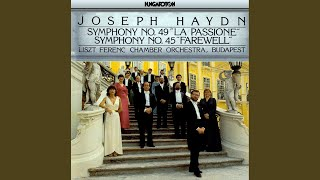 "Symphony No. 49 in F minor ""La Passione"": IV. Finale. Presto"