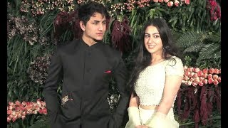 Sara Ali Khan And Ibrahim Ali Khan Together At Virat Anushka Reception