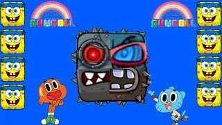 Gumball with - 4 Fused Boss - Pirate Boss - Spongebob All in one stage.