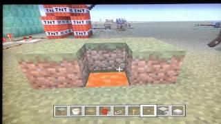 Mincraft see through non transparent block glitch