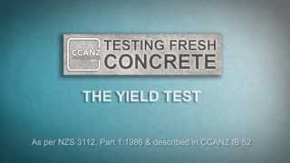 Testing Fresh Concrete: Yield Test