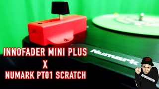 Innofader Mini Plus x Numark PT01 Scratch Portable Turntable